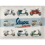 Vespa - A small Car on 2 Wheels - Metallschild - 30x40cm Blechschilder,Coca Cola,Elvis,Nostalgieschilder,Metallschilder,Blechschilder...