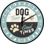 Dog Times are Good Times - Wanduhr - 31cm Wanduhren - Metallausführung, Echtglasfront John Deere - nothing runs l...